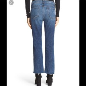 Frame Le Straight High Raw Hem Crop Jeans Sz 25